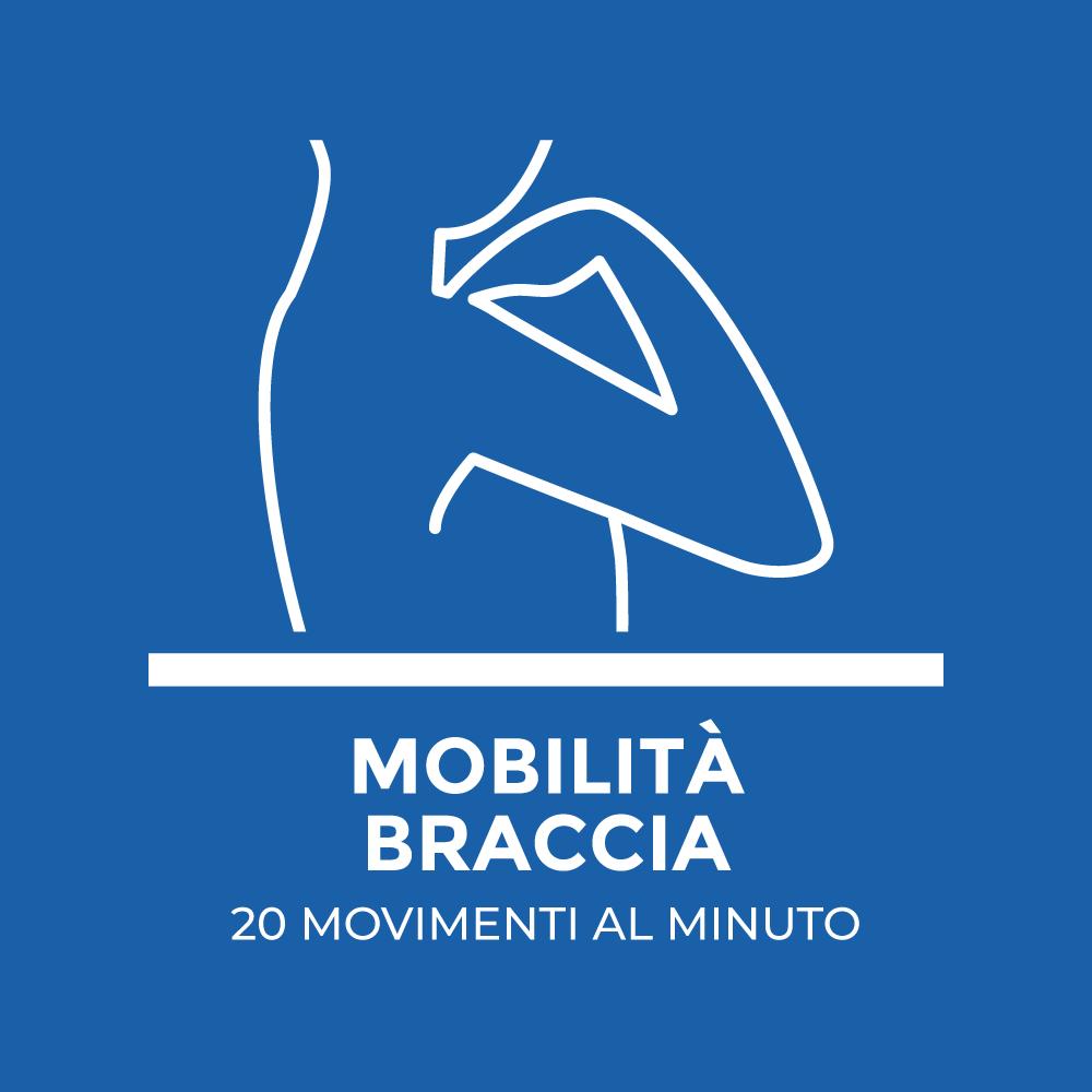 Mobilita Braccia: 20 movimenti al minuto