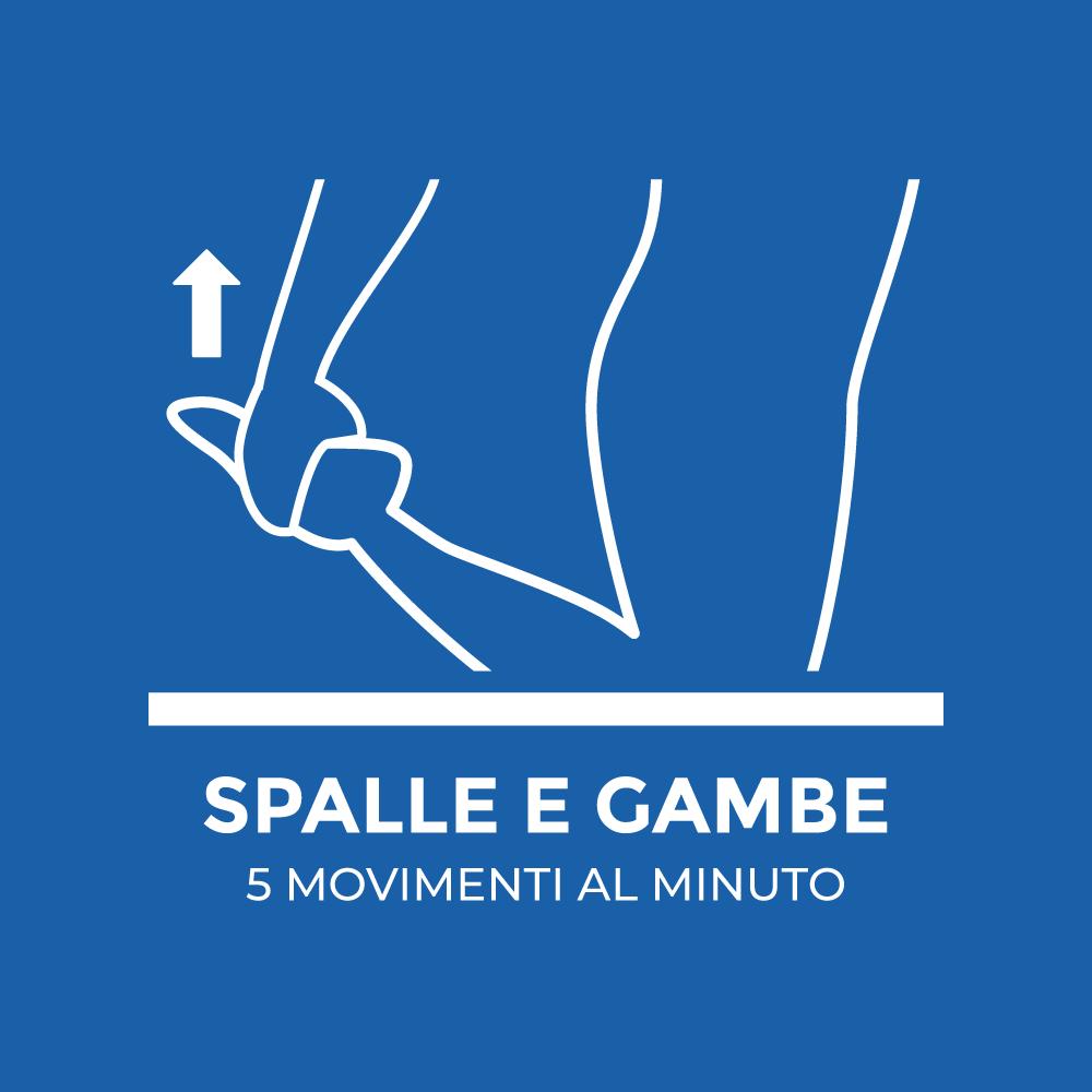 Spalle e gambe: 5 movimenti al minuto